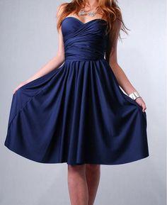 Convertible Bridesmaids wrap Dress Infinity evening maxi gown in Royal Blue Navy tube kimono via Etsy. Navy, $42.00