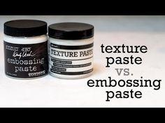 Texture Paste & Embossing Paste Comparison