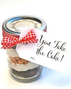 you take the cake gift idea w/ free printable