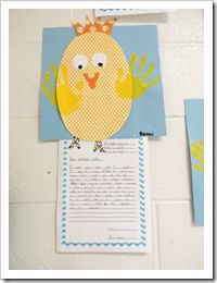Loving these chicks! little crafts, letter writing