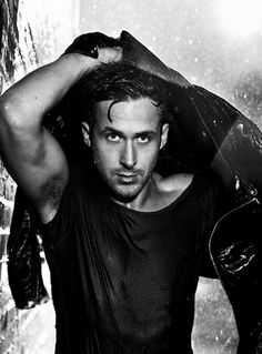Ryan Gosling in the rain.