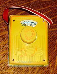 Fisher Price Radio radio raindrop, remember this, childhood memories, toy, fisher price, music boxes, radios, price radio, kid