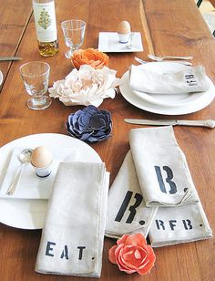 initial napkins