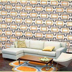 Wall Stencil Connection  Reusable stencils by CuttingEdgeStencils, $39.95