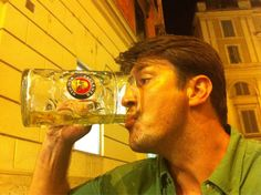 Nathan Fillion downs a Moss! Shiny! #firefly #geekbeer