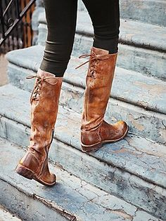 Rugged tall boots