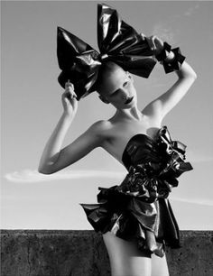 Garbage Bag Fashions Suited For The High Fashion Runways: Editorial Looks On A Budget! PD