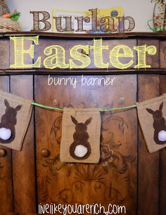 This is a darling Easter banner.