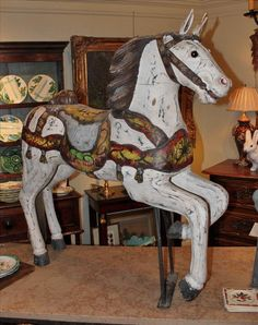 Antique French Carousel Horse