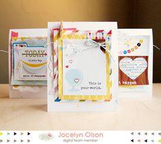 craft inspir, card idea, scrapbook inspir, tag, craft idea, scrapbook layout, card set, happen card, cards