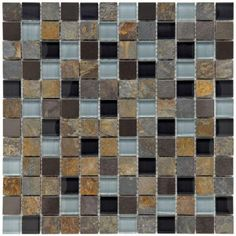 Merola Tile Cathedral Alloy Charcoal 12 in. x 12 in. x 8 mm Glass and Stone Metal Mosaic Wall Tile-GITCAACH at The Home Depot