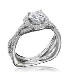 A. Jaffe - Signature Collection 18K White Gold Diamond Pave Setting