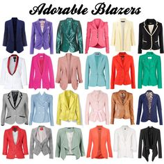 adorable blazers, created by pookums-mcclead on Polyvore