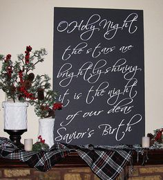 Large Christmas Carol Song Typography Sign Decoration Custom. You get to choose what song you want!