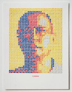 Stitched portraits by Evelin Kasikov