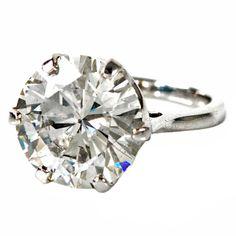 1stdibs   8.50ct Round Diamond Platinum Engagement Ring