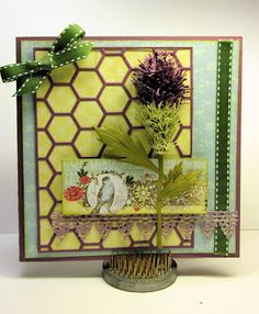 Thistle Flower tutorial using Cheery Lynn Designs dies by Gini Williams Cagle