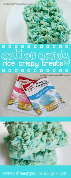 Tips from a Typical Mom: {Cotton Candy} Rice Crispy Treats-- not that the idea of cotton candy tickles my fancy, but this does give me other ideas.