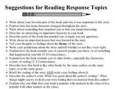 reader response essay prompt