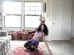 Learn to belly dance: how to do the Lebanese drop - YouTube