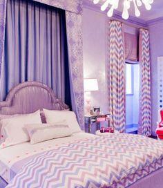 Interior Design Ideas for Girls' Bedroom  - Purple bedroom