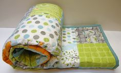 Backyard Baby Boy Patchwork Quilt by NowandThenQuilts on Etsy, $148.00