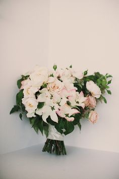 Pale Pink Garden Bouquet | photography by photography.miche... |  floral and event design by www.mckenziepowel...