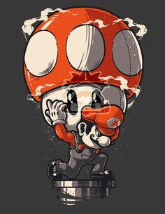 SUPER ATLAS #nintendo #mario #art #mushroom