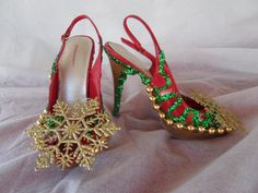 OOh LaLa Sexy Ugly Tacky  Christmas Sweater Party Shoes