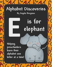 Letter E Preschool Unit ~ This printable is a series to help children learn their alphabet one letter at a time. This unit has 20 activities focusi...