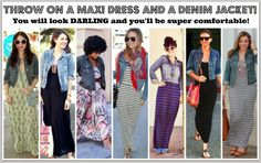 MAXI DRESS FOR THE WIN!!!  Your Guide To Looking Tall and Skinny.  Click for lots of great maxi dress options!!!!!!