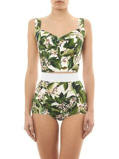 Dolce & Gabbana Lemon blossom-print briefs