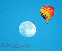 Flyin to the Moon.  Single telephoto image