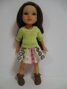 Hearts 4 Hearts Doll Clothes Lime Pretty by 123MULBERRYSTREET, $25.00