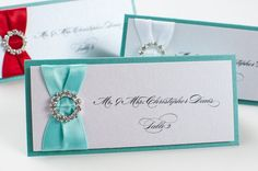 Bling & Satin Wedding Place Cards in Luxe by PennyAnnDesigns, $595.00