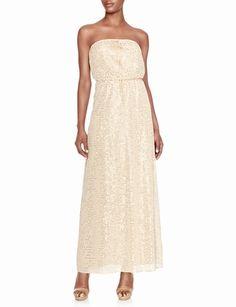 Shimmering Strapless Maxi Dress