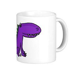 Cute Purple Dragon Coffee Mugs #dragons #mugs #purple #funny #animals #zazzle #petspower