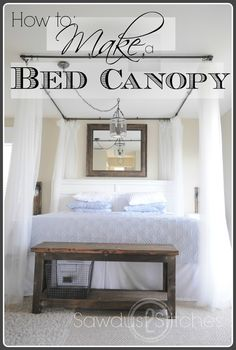 bed canopy,  PVC Projects, DIY,  Bedroom