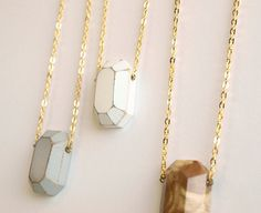 a wood diamond necklace