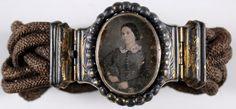 Mourning Bracelet vintag, mourn hair, mourn bracelet, hair bracelet, bracelets, victorian, mourning jewelry, portrait, mourn jewelri