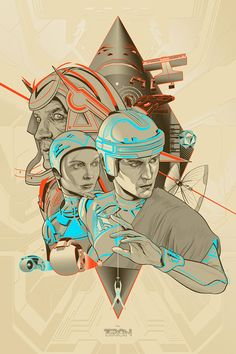 TRON and TRON: Legacy Mondo Posters By Martin Ansin