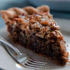 German Chocolate Pecan Pie. This was our Thanksgiving dessert. Fantastic.