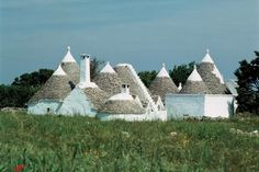traditional cottage in Italy - . in the Itria valley in the Apulian region of southern Italy