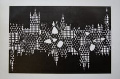 London Lino print by Hannah And Her Press