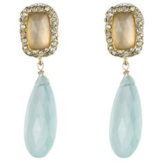 Siyabona Gold Peruvian Chalcedony Post Drop Earring :: Earrings :: Jewelry By Category :: Alexis Bittar