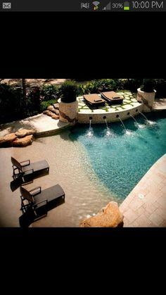 Pool that looks like a beach!