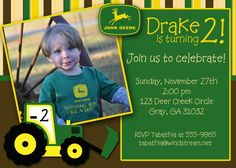 John Deere party invitation