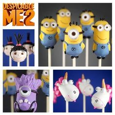 Despicable me cake pops! :)