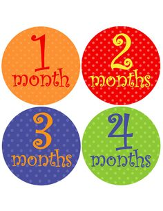 Month stickers for photos-great baby gift