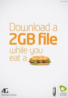 Etisalat 4G: Burger Genial! Uma propaganda para Velocidade de Internet que foge de todos os padroes que todos fazem! Super. Aprendi muito com isso!
